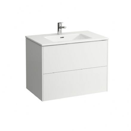 864961 - Laufen Pro S Slim 800mm x 500mm Washbasin & Base Vanity Unit - 8.6496.1